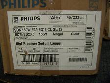 Philips Alto High Pressure Sodium Lamps SON150W E39 ED75 CL SL/12 12 ea. 467233