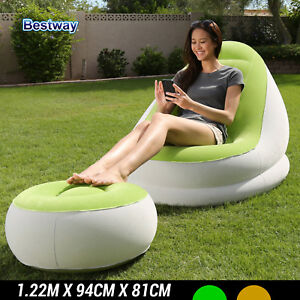 Bestway Inflatable Seat Sofa Comfort Cruiser Сhair with Footrest Out door 75053