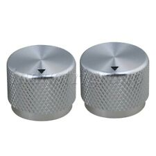 2Pcs Aluminum Guitar Potentiometer Control Knobs For Electric Guitar Silver