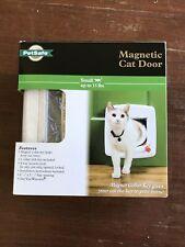 New PetSafe Magnetic Cat Door 4-Way Security Lock Collar & Key Keep Strays Out