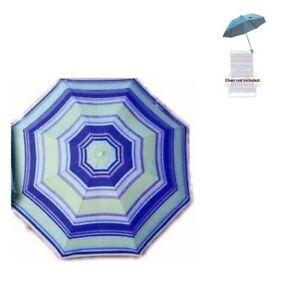 Clip On Beach Chair Umbrella - Retro/Vintage 4-Color Clip-On Beach Umbrella -NEW