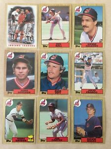 1987 Topps Cleveland Indians Complete Team Set!!