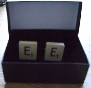 Genuine Scrabble Tile Cufflinks - Free gift box
