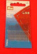 Prym Nähnadeln lang  20 Stück  No 7 Handnähnadeln Handarbeit Nadel 121291