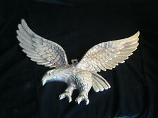 "VINTAGE WALL HANGER- METAL SPREAD EAGLE FIGURINE- 14-1/4"" WING SPAN"