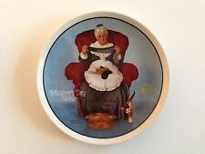"""""""Mending Time"""" Knowles Tenth 10th Collector Plate 1983 Norman Rockwell"""