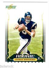 Charlie Whitehurst 2006 Score Rookie Super Bowl XLI Embossed Logo #339 RARE 1/10