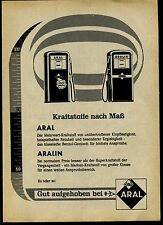 Aral Kraftstoffe nach Maß--Aral--Werbung von 1959-Gut aufgehoben