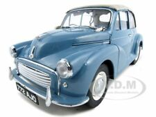 1960 MORRIS MINOR OPEN CONVERTIBLE CLIPPER BLUE 1/12 MODEL BY SUNSTAR 4772