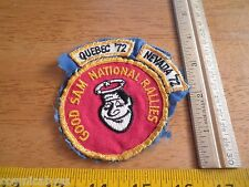 1972 Good Sam Club National Rallies Nevada Quebec patches camping