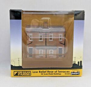 N Gauge Graham Farish Scenecraft Building - Low Relief Rear of Terraces (42-233)