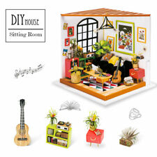 Rlife Miniature Living Room DIY Wooden Doll House Model Kits Handcrafted Toy