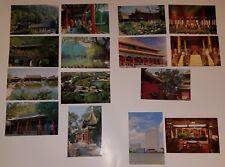 15 UNUSED China Postcards Lot Imperial Garden Bridge Pool Hall Tower Hotel