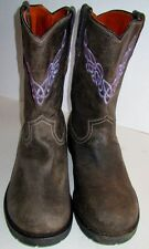 Mens Justin Bent Rail # 9932 Size 10 1/2 D Roper Style Boots Celtic Knot Stitch