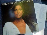 Carly Simon Best of  VINYL RECORD Elektra label 12 INCH LP