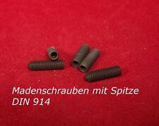DIN 914 Gewindemuffen / Madenschrauben in Stahl blank / schwarz div. Abmessungen