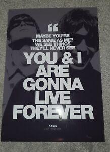 Oasis LIVE FOREVER poster Liam Noel Gallagher