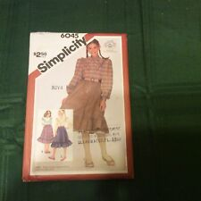 Simplicity 6045 Girls' Blouse Skirt and Petticoat Size 8 Sewing Pattern Uncut