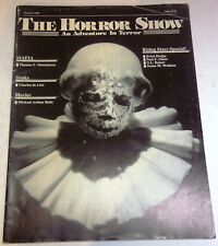The Horror Show - US magazine - Vol.7 No.2 - Summer 1989 - Monteleone - Signed