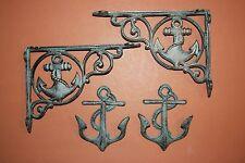 New listing (4) Sailing Wall Decor, Anchor Home Decor, Shelf Brackets, Wall Hooks,Cast Iron