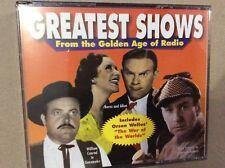 Greatest Shows From The Golden Age Of Radio Orson Welles, Burns Allen, Gunsmoke