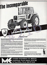 LAMBORGHINI 1256DT TRACTOR ADVERT - 1980 advertisement Maulden Engineering R1256