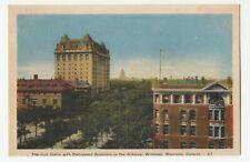 Fort Garry & Parliament Buildings WINNIPEG Manitoba Canada 1930-45 PECO 67