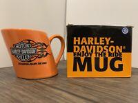 Harley Davidson 16oz Hog Coffee Mug - Go Ahead Enjoy The Ride 2007 - RARE FIND