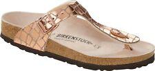 Birkenstock Gizeh Gator Gleam Copper Damen Zehentrenner Sandale Weite normal