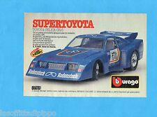 TOP985-PUBBLICITA'/ADVERTISING-1985- BURAGO - TOYOTA CELICA GR5  1:24