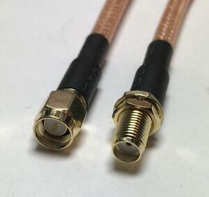 RG142 SMA Male to SMA Female Double Shield Coaxial Cable PICK LENGTH RF US Lot