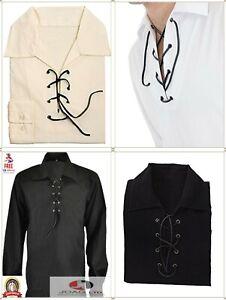 Men's Scottish Jacobite Ghillie Kilt Shirt Small To 5XL Multi Colors