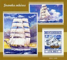 Mozambique 2015 MNH Tall Ships 1v S/S Boats Nautical HMS Victory Star Clipper