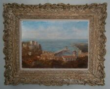 Pointillisme tableau huile sur toile paysage marine vue de Cassis