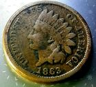 🇺🇸 1863 Indian Head Cent Copper Nickel Civil War Date  for sale