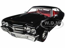1970 CHEVROLET CHEVELLE SS BLACK 1/24 DIECAST MODEL CAR BY JADA 97834