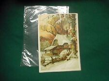 "Victorian Trading Card ""Don't Anti-Washbord Soap"" ~ Winter Snowy Christmas Scene"