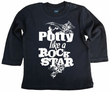 Camiseta negra para niños de 0 a 24 meses