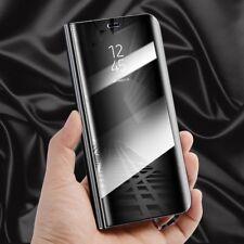 Per Samsung Galaxy J7 J730F 2017 Cancella View Smart Cover Borsa Nera Svegliati