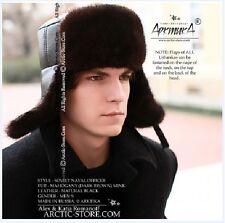 $395! Arktika naval officer mahogany mink ushanka hat