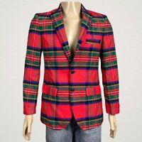 NEW Shinestry The Red Rocket Pocket Blazer Sport Coat Jacket Size 38 Christmas