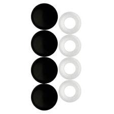 Cruiser 82650 Locking License Plate Bolt Decorative Caps Black