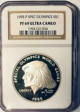 1995-P Special Olympics  Silver Dollar Commemorative - NGC PF-69 Ultra Cameo