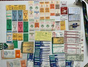 Vintage NBL Baseball Tickets Lot Of 65