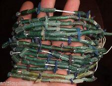 Perles Romain Fragment Verre Ancien 40cm Antique Ancient Roman Glass Bead Strand