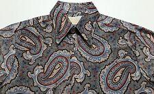 Vintage 1960s 70s Sears Kings Road Paisley Disco Hippie Men's Medium Shirt