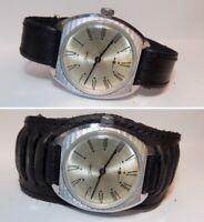 Rare montre ancienne mécanique homme Zim, bracelet neuf,  1970's #171019