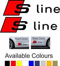 Audi S Line Door Sticker | Decal Sticker Graphic | 200 x 55mm | 1Pair | BB247