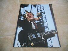 AC/DC Angus Young Live Concert Tour Guitar Color 11x14 Photo #1