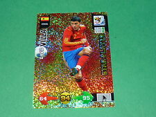 VILLA ESPAÑA  PANINI FOOTBALL FIFA WORLD CUP 2010 CARD ADRENALYN XL